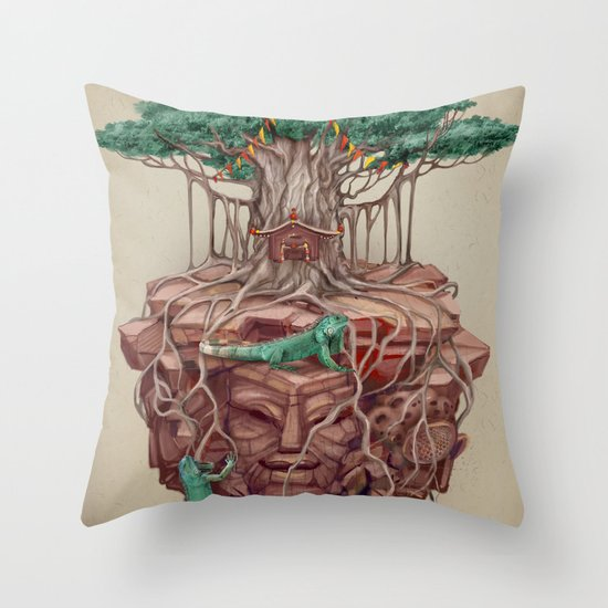 tree land Throw Pillow