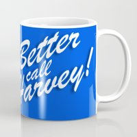 birdman Mugs featuring Better Call Harvey by Moysche Designs