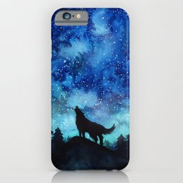 Wolf Galaxy iPhone Case