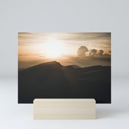 a beautiful Sunset in the Dolomites Mini Art Print