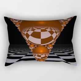 Apollonian gasket - orange Rectangular Pillow