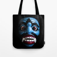 bali Tote Bags featuring Bali mask by VanessaGF