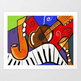 Jazzle dazzle Art Print