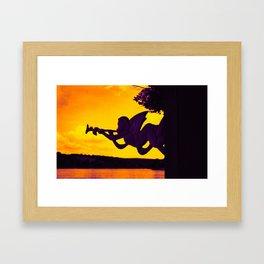 Horn section Framed Art Print