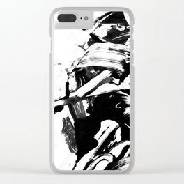 Blck&Whte 2 Clear iPhone Case
