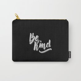 Be Kind - Black Carry-All Pouch