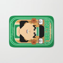 Basketball Green - Alleyoop Buzzerbeater - Amy version Bath Mat