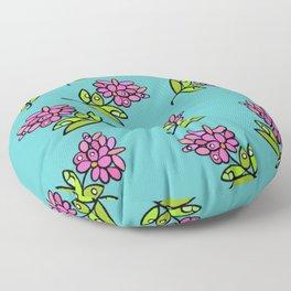 Pink Posie Floor Pillow