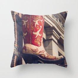Broadway Boots - Nashville Throw Pillow