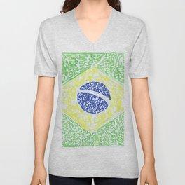brazil flag Unisex V-Neck