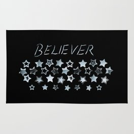 BELIEVER #1 #typo #drawing #decor #art #society6 Rug