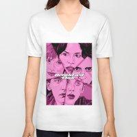 the breakfast club V-neck T-shirts featuring Breakfast Club by David Amblard