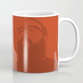 Beardlyman Face on Orange Coffee Mug