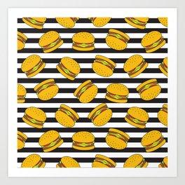 Burger Stripes By Everett Co Art Print
