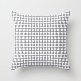 Pantone Lilac Gray Harlequin, Rhombus, Diamond Pattern Throw Pillow