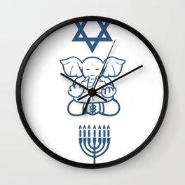 Jew Gift Judaism Israel Religion Rabbi Wall Clock