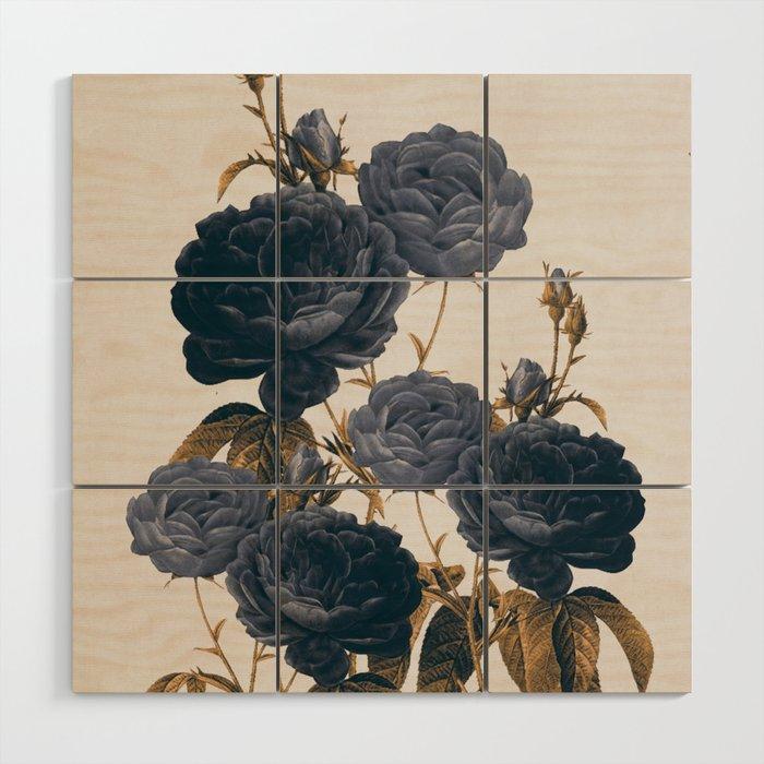 blue flowers Wood Wall Art by dada22 | Society6