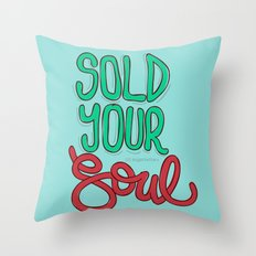 Sold Your Soul Throw Pillow