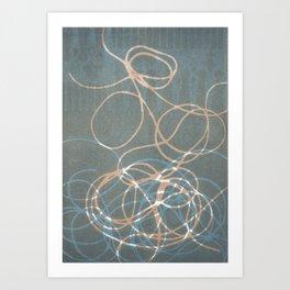 Blue Nest 1 Art Print