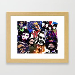 Famous Icons from Einstein to Bono Framed Art Print
