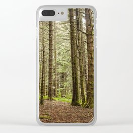 Old Growth Forest Photography Print Clear iPhone Case