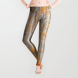 orange autumn Leggings