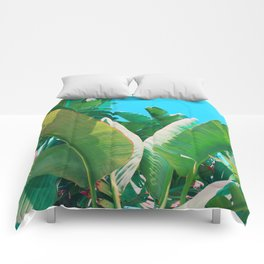 Pop Art Banana Leaf Comforters
