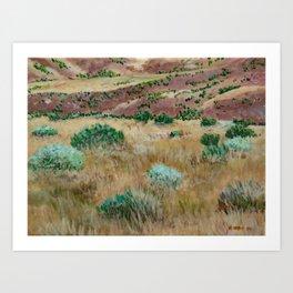 Boise foothills acrylic painting Art Print