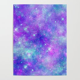 Purple Star Galaxy Poster