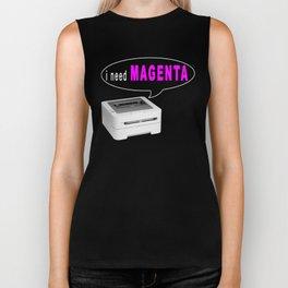 Printer Magenta Meme Biker Tank
