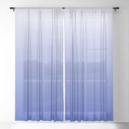 Vishuddha Chakra Blue Ombré Sheer Curtain