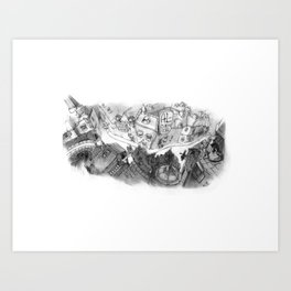 Roof Top View Art Print