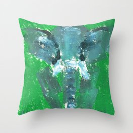 Abstract Elephant Throw Pillow