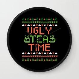 Funny Ugly Tea Time Tealover Humor Gift Wall Clock