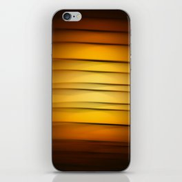 Abstract background blur motion golden honey iPhone Skin