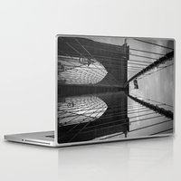 brooklyn bridge Laptop & iPad Skins featuring Brooklyn Bridge by Nicklas Gustafsson