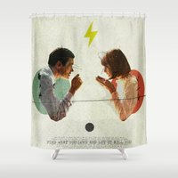 collage Shower Curtains featuring Bland | Collage by Julien Ulvoas