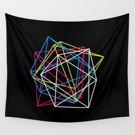 Octahedron CMYK (dark) Wall Tapestry