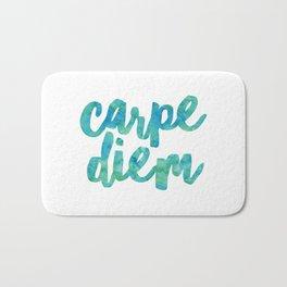 Carpe Diem Watercolor Bath Mat