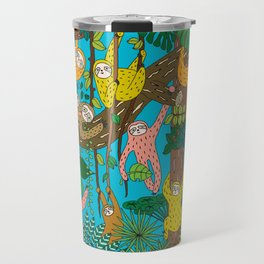 Happy Sloths Jungle Travel Mug