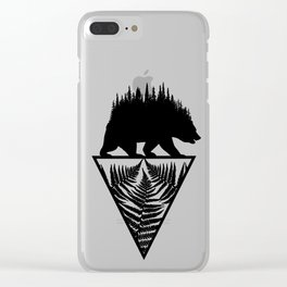 Fern and Bear Clear iPhone Case
