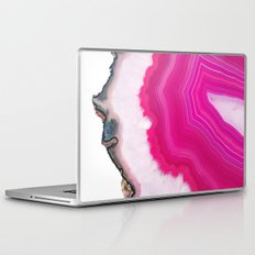 Pink Agate Slice Laptop & iPad Skin