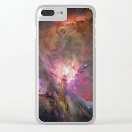 Orion Nebula M42, NGC 19 (High Quality) Clear iPhone Case