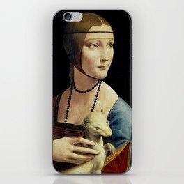 THE LADY WITH AN ERMINE - DA VINCI iPhone Skin