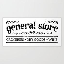 General Store Rustic Sign Art Print