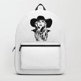 PORTRAIT OF A FEMALE POP SINGER AND SUPERSTAR Backpack