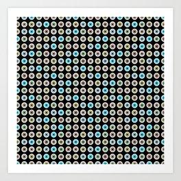 googly eyes pattern Art Print