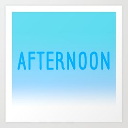 Hello Afternoon Art Print