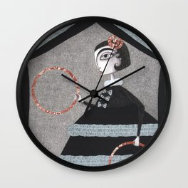 The Red Rings Wall Clock