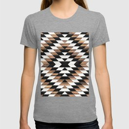 Urban Tribal Pattern No.13 - Aztec - Concrete and Wood T-shirt